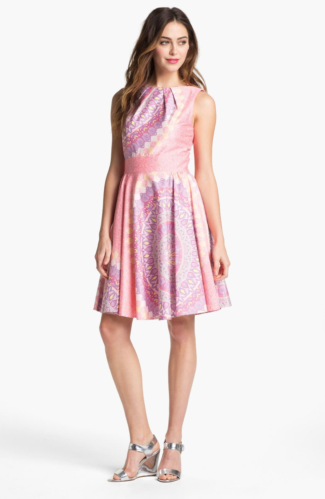 Alternate Image 1  - Maggy London Print Fit & Flare Dress
