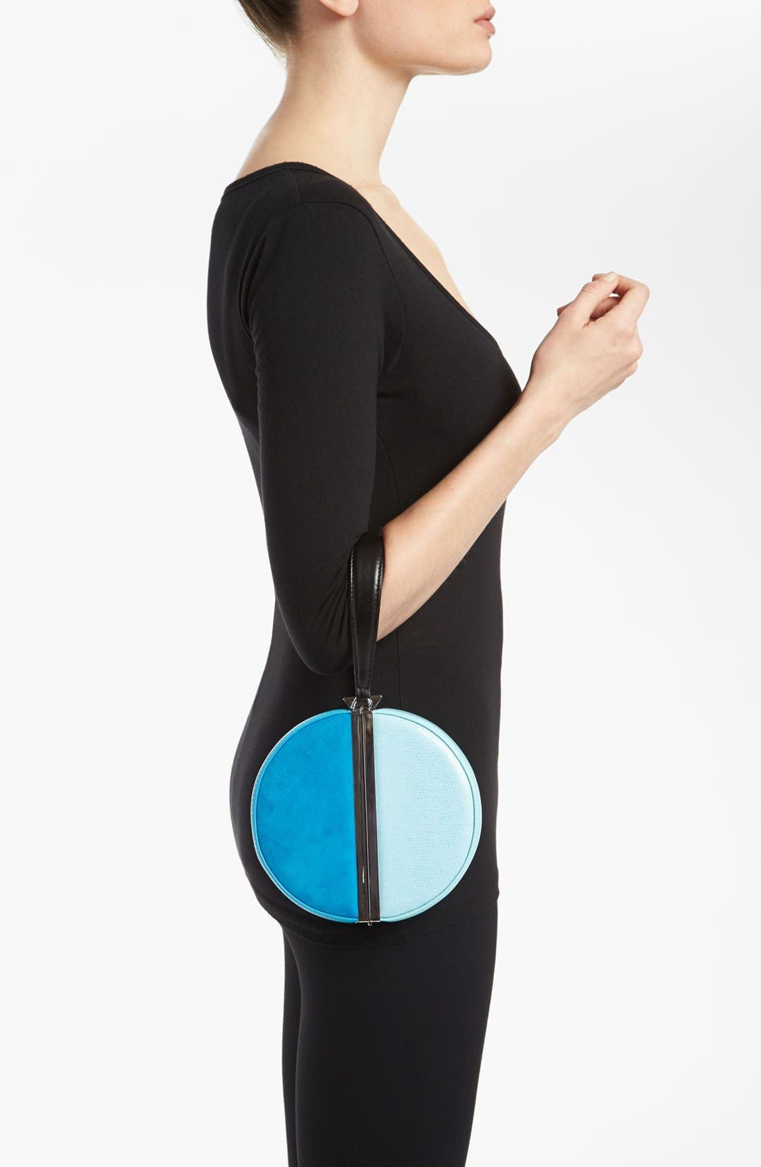 Alternate Image 2  - Diane von Furstenberg Colorblock Circle Clutch