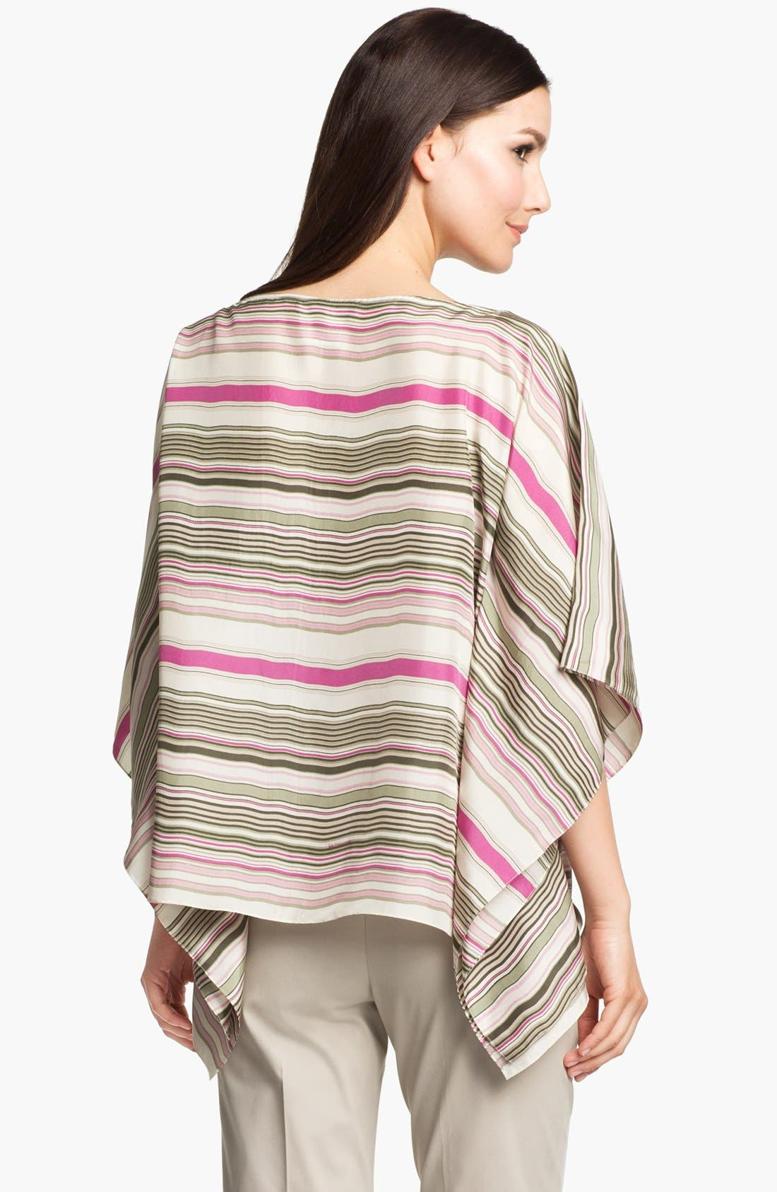 Alternate Image 2  - Lafayette 148 New York 'Mirabelle - Serengeti Stripe' Silk Top