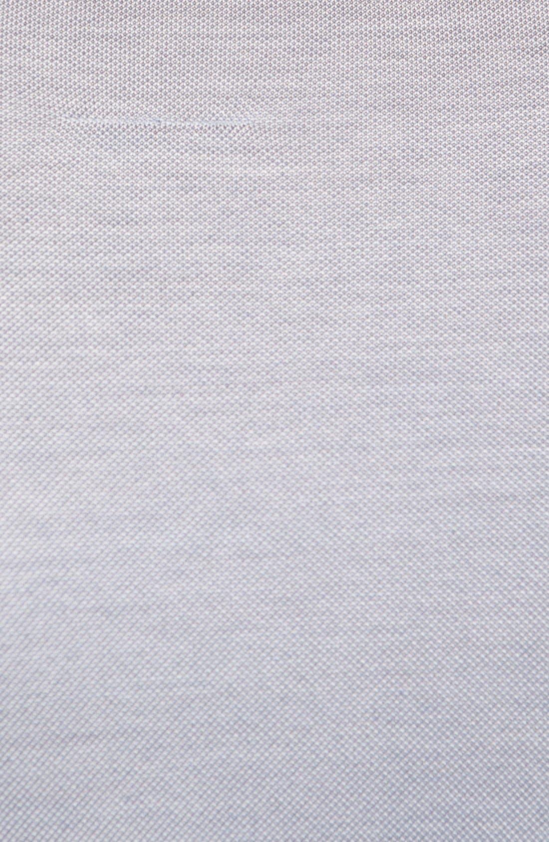 Alternate Image 3  - Canali Mélange Silk Blend Piqué Polo
