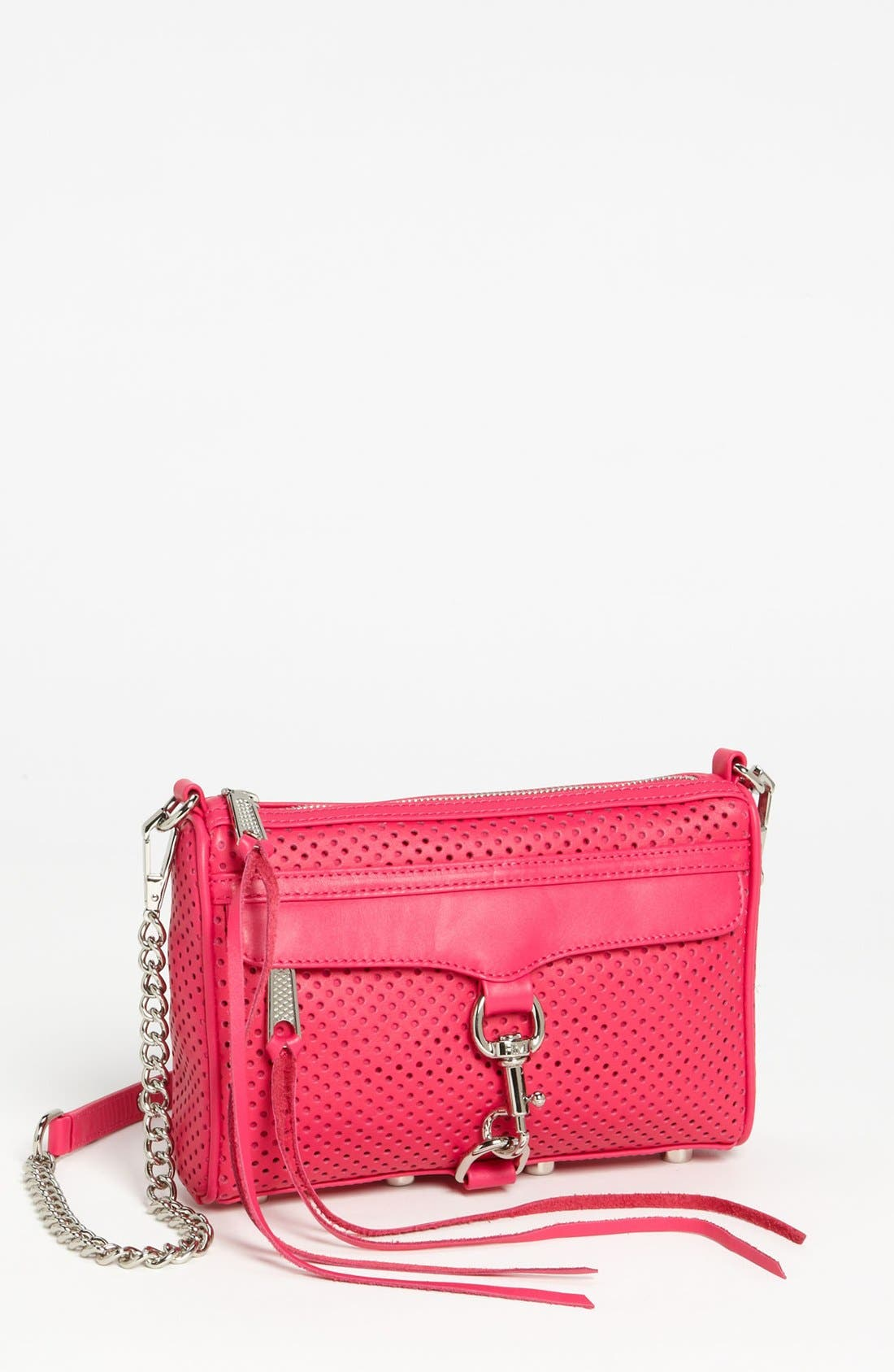 Alternate Image 1 Selected - Rebecca Minkoff 'Mini MAC' Perforated Leather Clutch