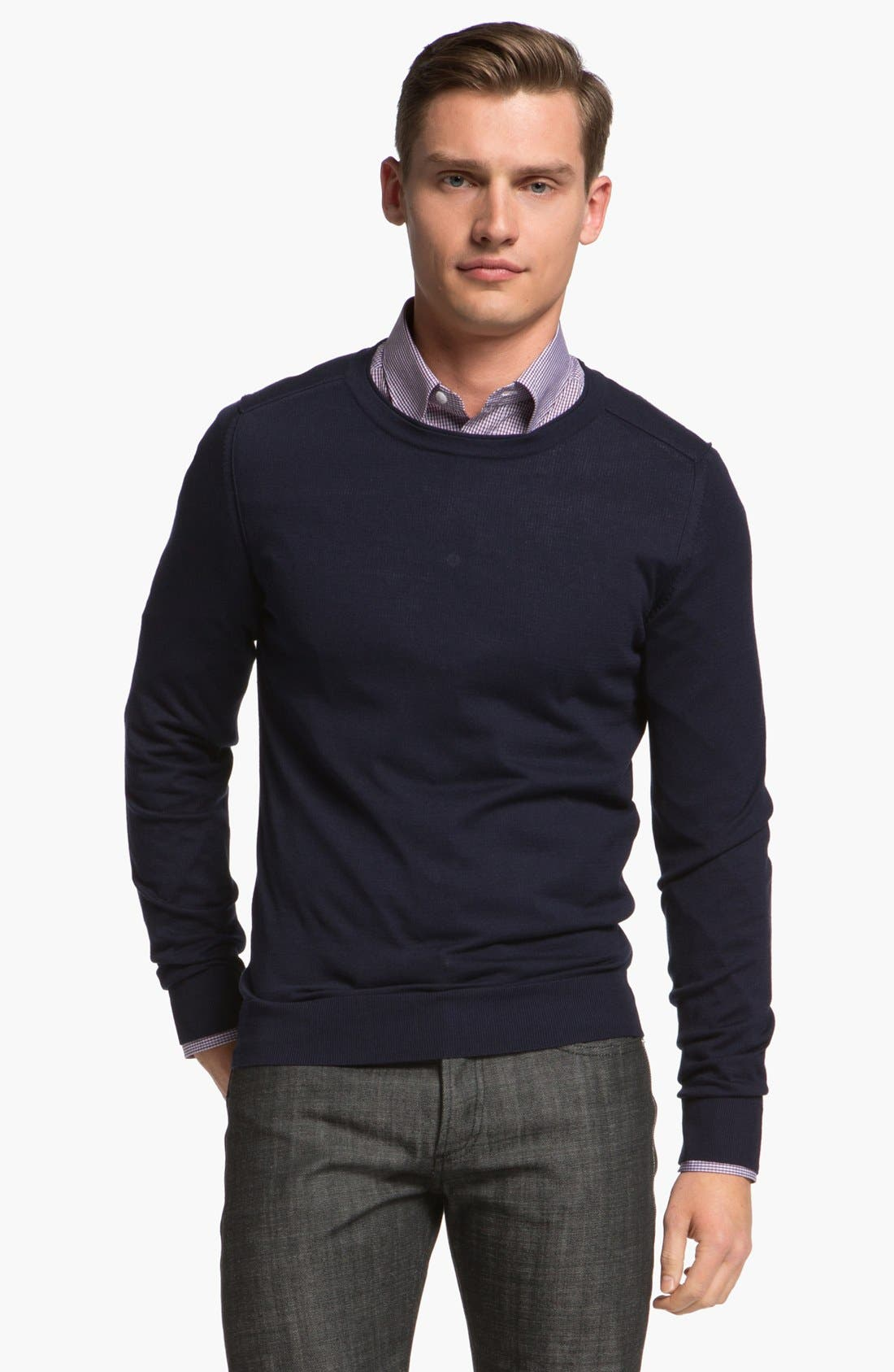 Main Image - Z Zegna Silk Blend Sweater