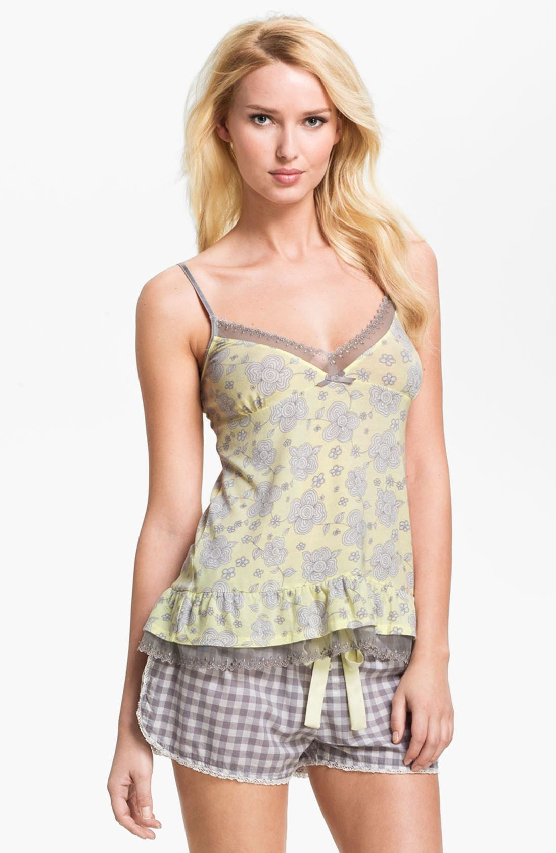Alternate Image 1 Selected - PJ Salvage Ruffle Camisole
