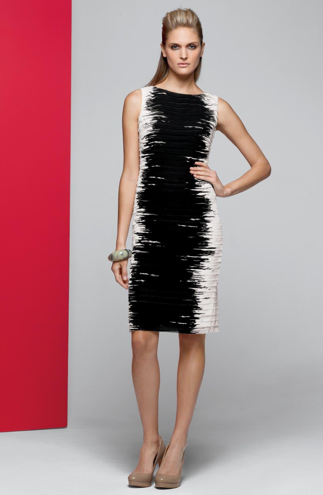 Alternate Image 4  - Lafayette 148 New York 'Faith' Silk Georgette Sheath Dress