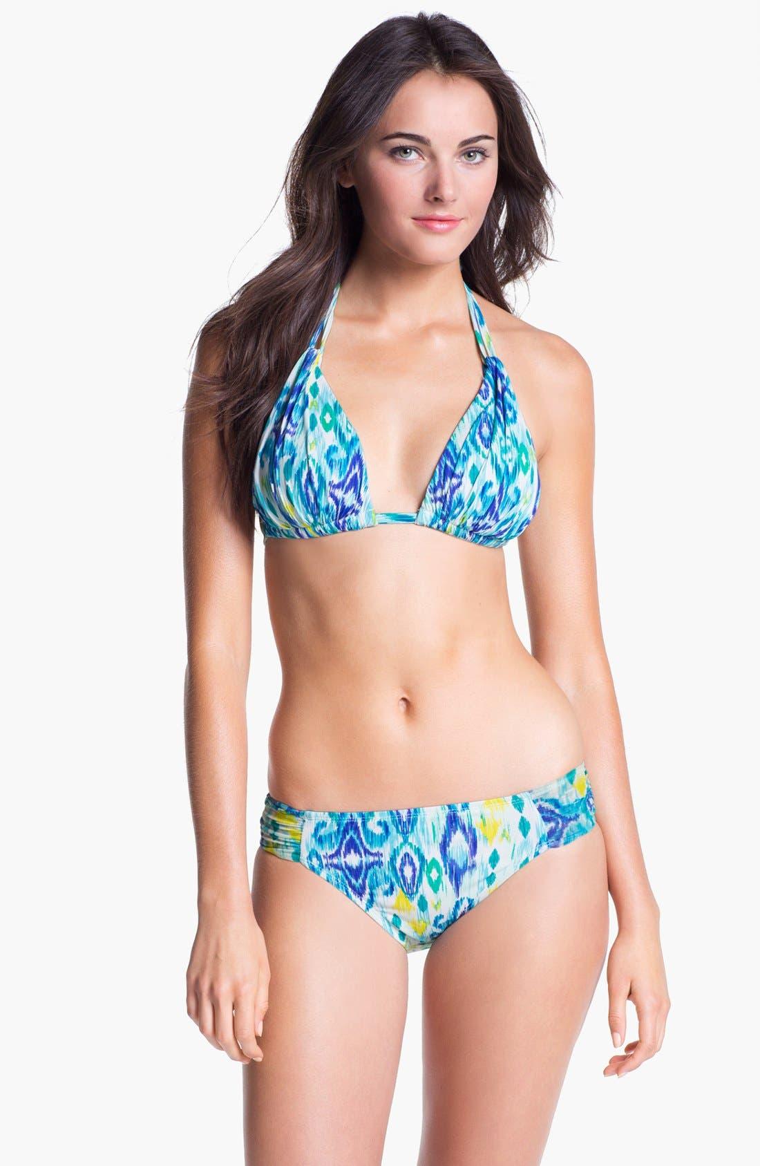Alternate Image 3  - La Blanca 'Shirred Brilliance' Halter Bikini Top