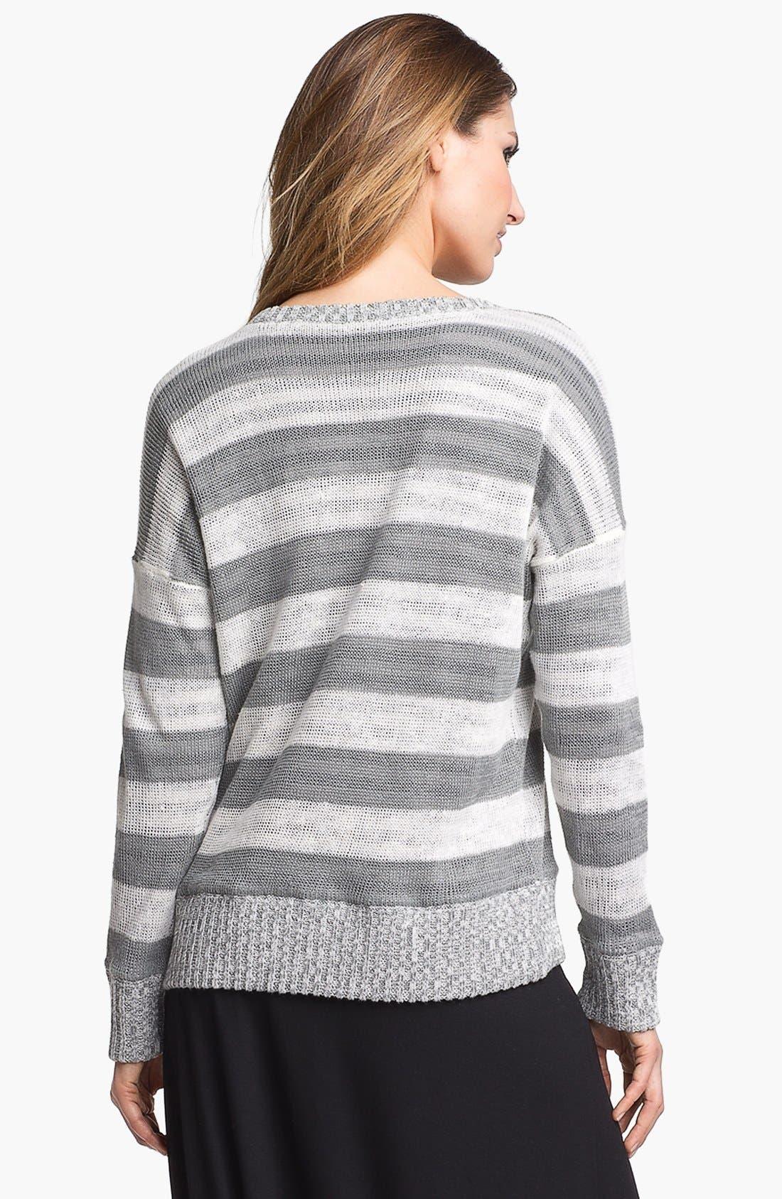 Alternate Image 2  - Eileen Fisher Scoop Neck Stripe Sweater