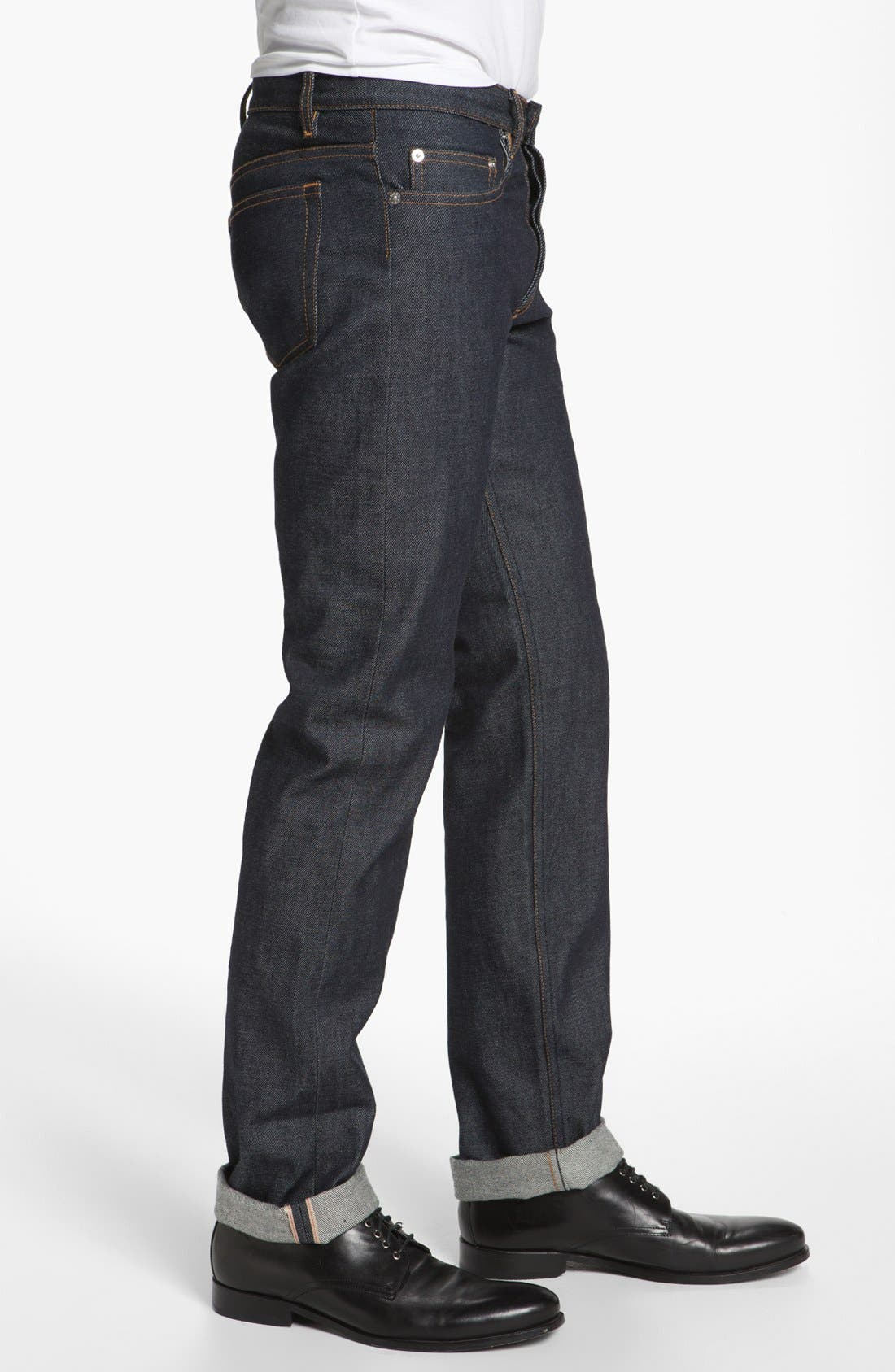 Alternate Image 3  - A.P.C. Petit New Standard Slim Straight Leg Selvedge Jeans