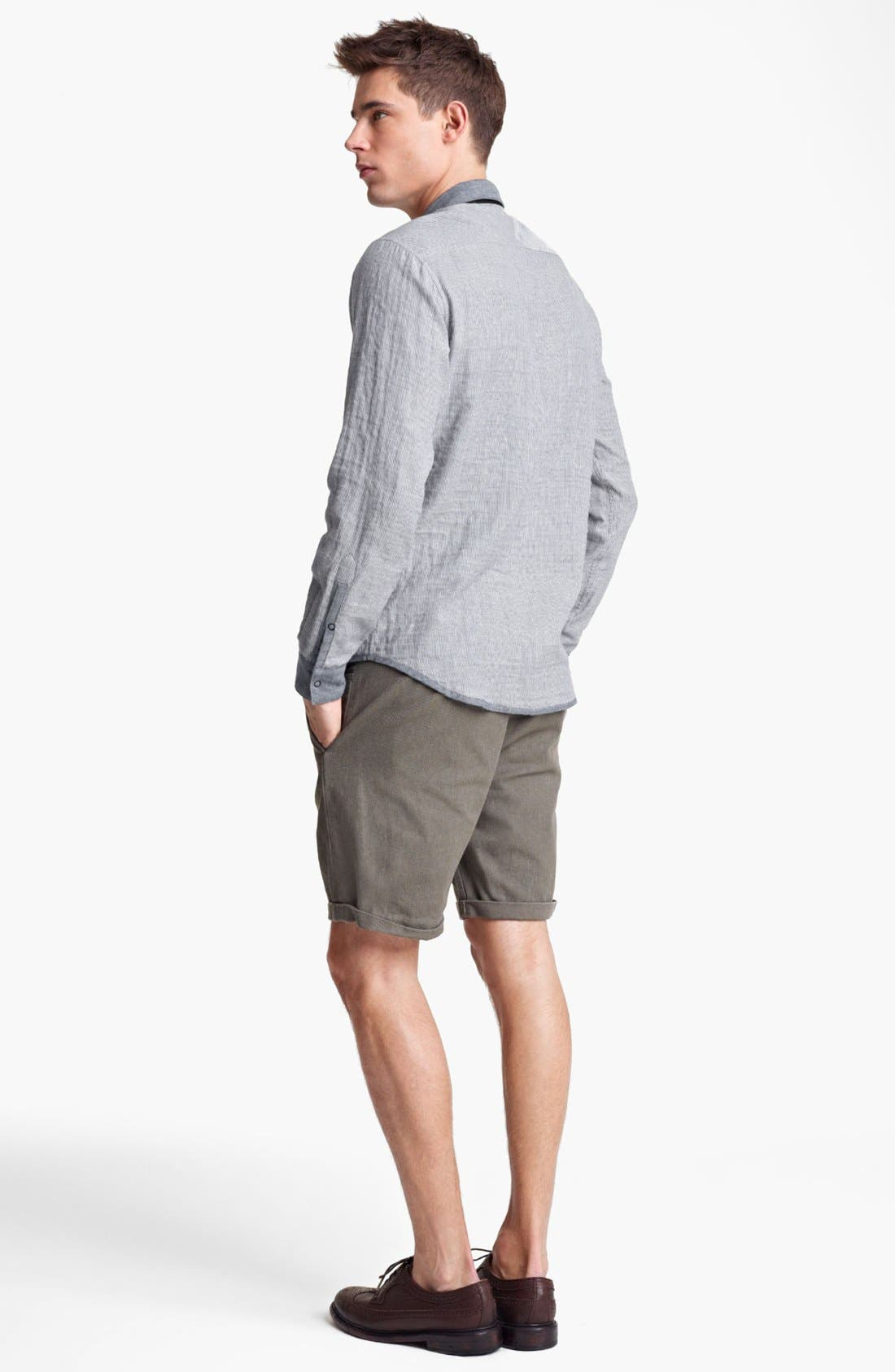 Alternate Image 4  - Rogan 'Insidoud' Reversible Chambray Shirt