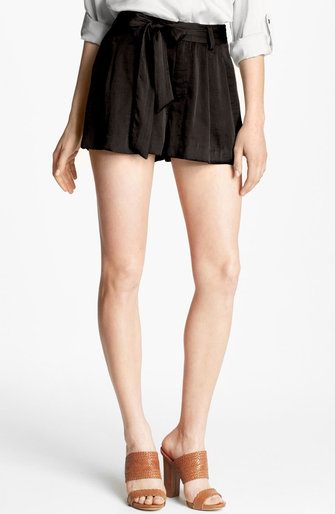 Alternate Image 1 Selected - Vince Camuto Self Tie Pleat Shorts