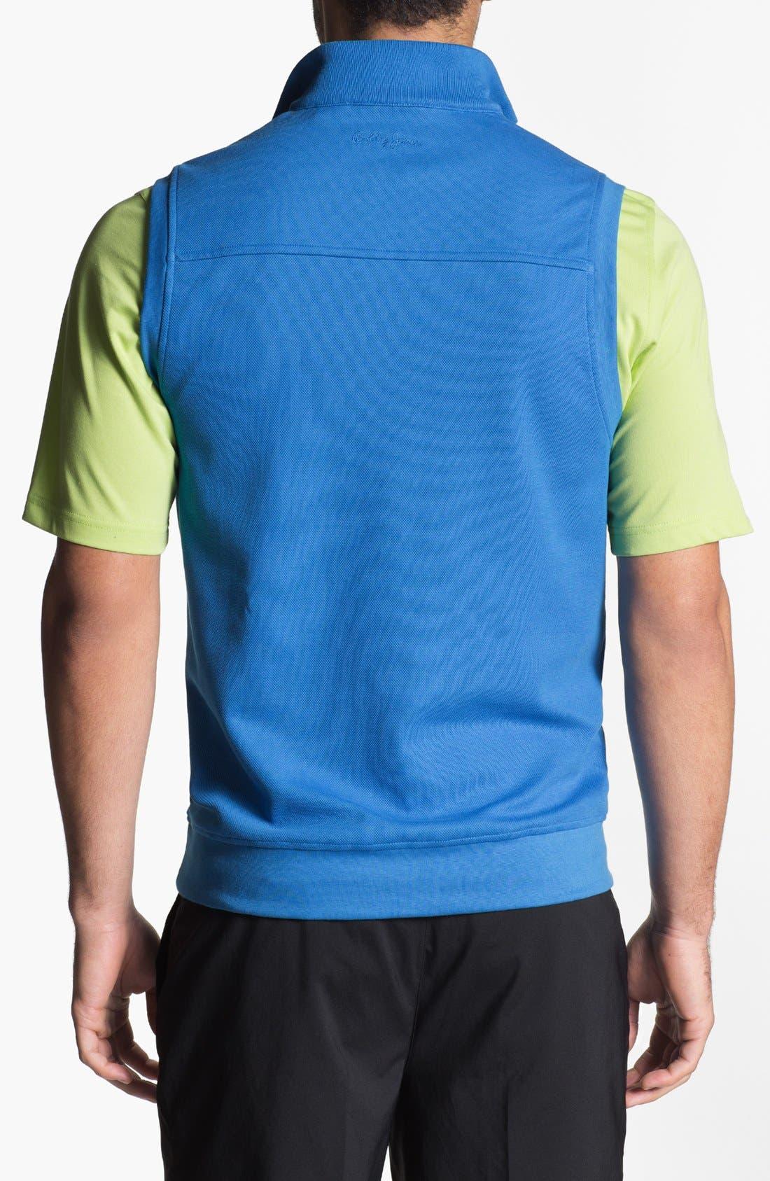 Alternate Image 2  - Bobby Jones Quarter Zip Piqué Vest