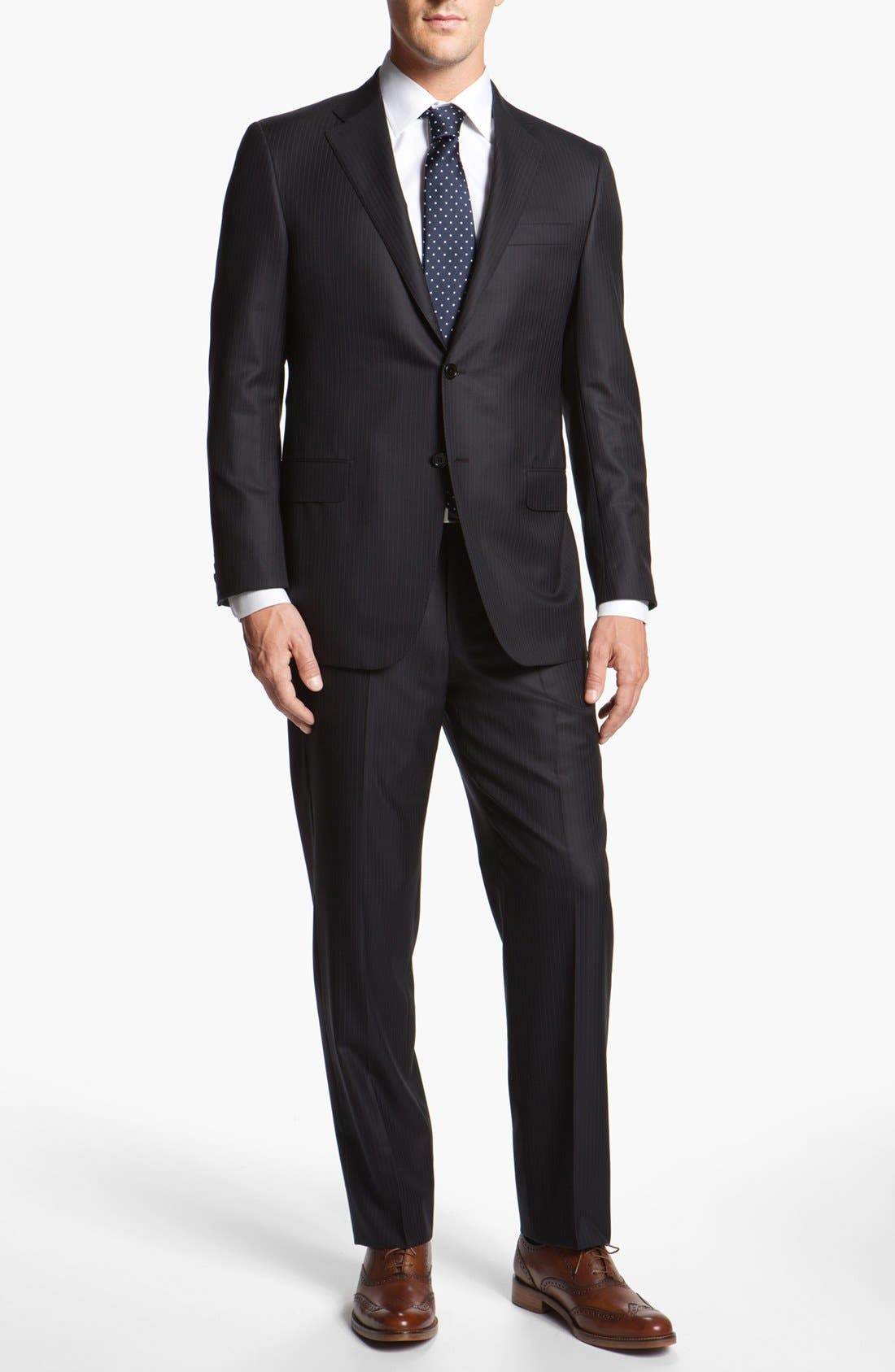 Alternate Image 2  - Hickey Freeman Stripe Wool Blend Suit