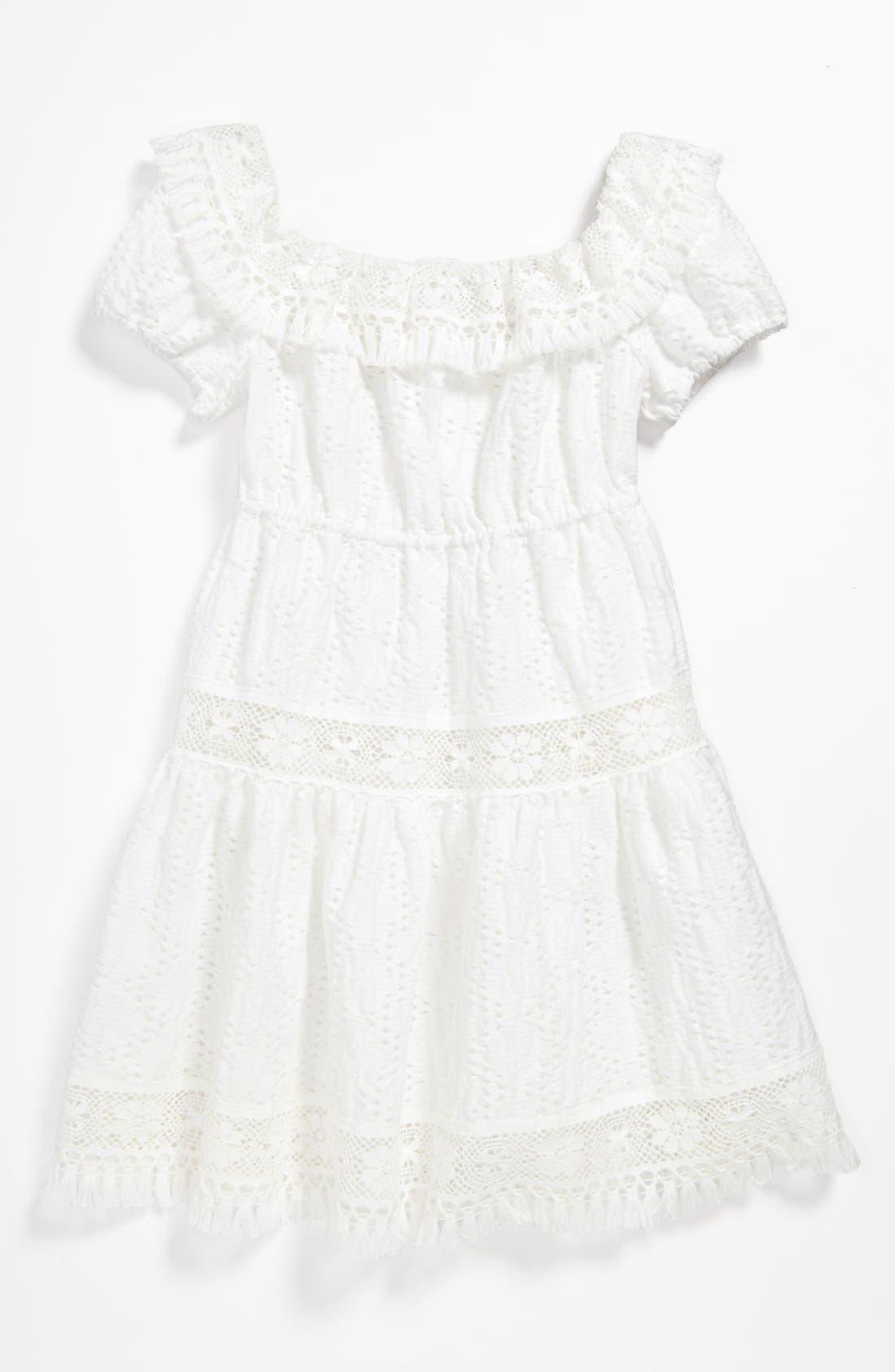Main Image - Dolce&Gabbana Jacquard Dress (Little Girls & Big Girls)