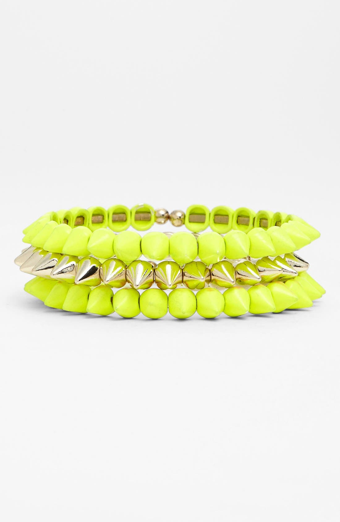 Main Image - Tasha Spike Stretch Bracelets (Set of 3)