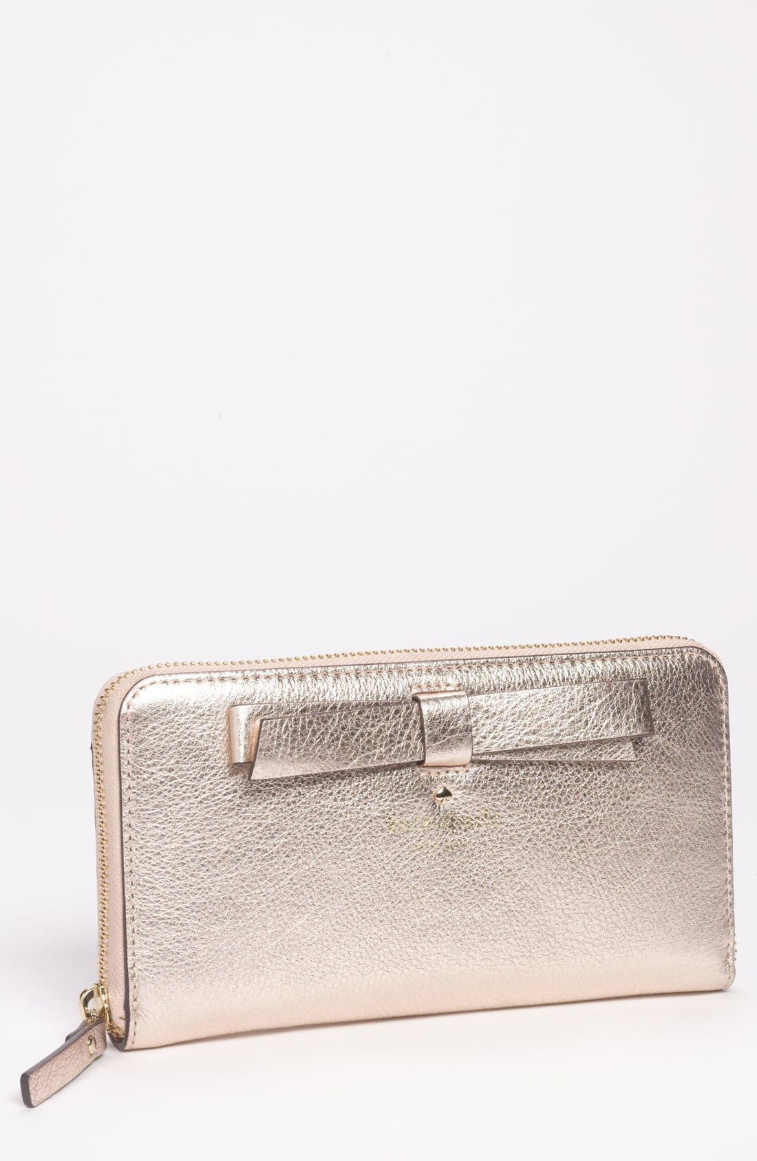 Main Image - kate spade new york 'hancock park - lacey' leather zip wallet