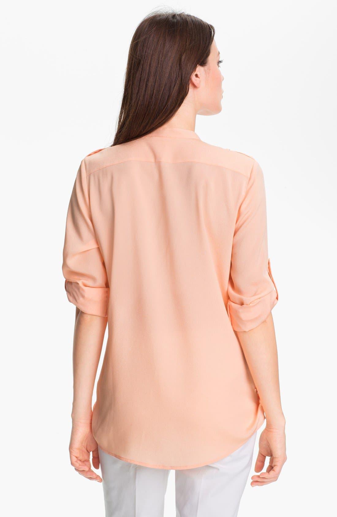 Alternate Image 2  - Calvin Klein Roll Sleeve Blouse