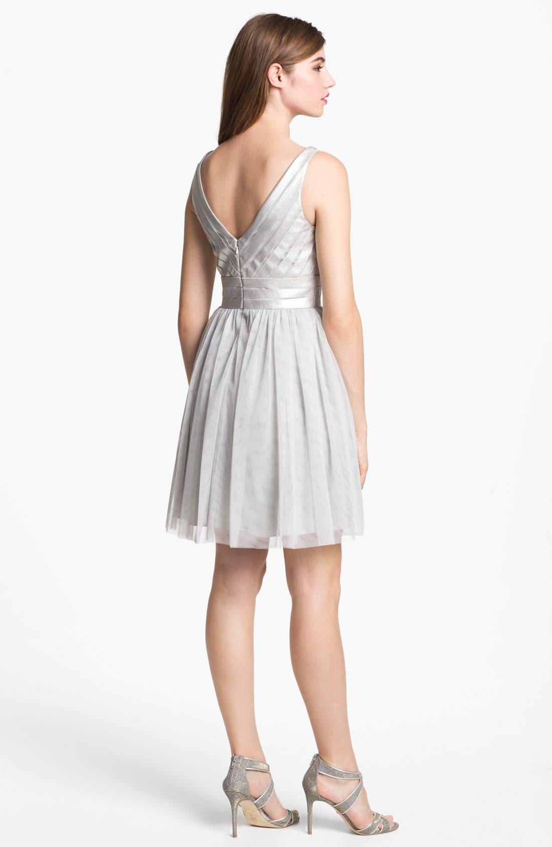 Alternate Image 2  - Aidan Mattox Embellished Tulle Fit & Flare Dress (Online Only)