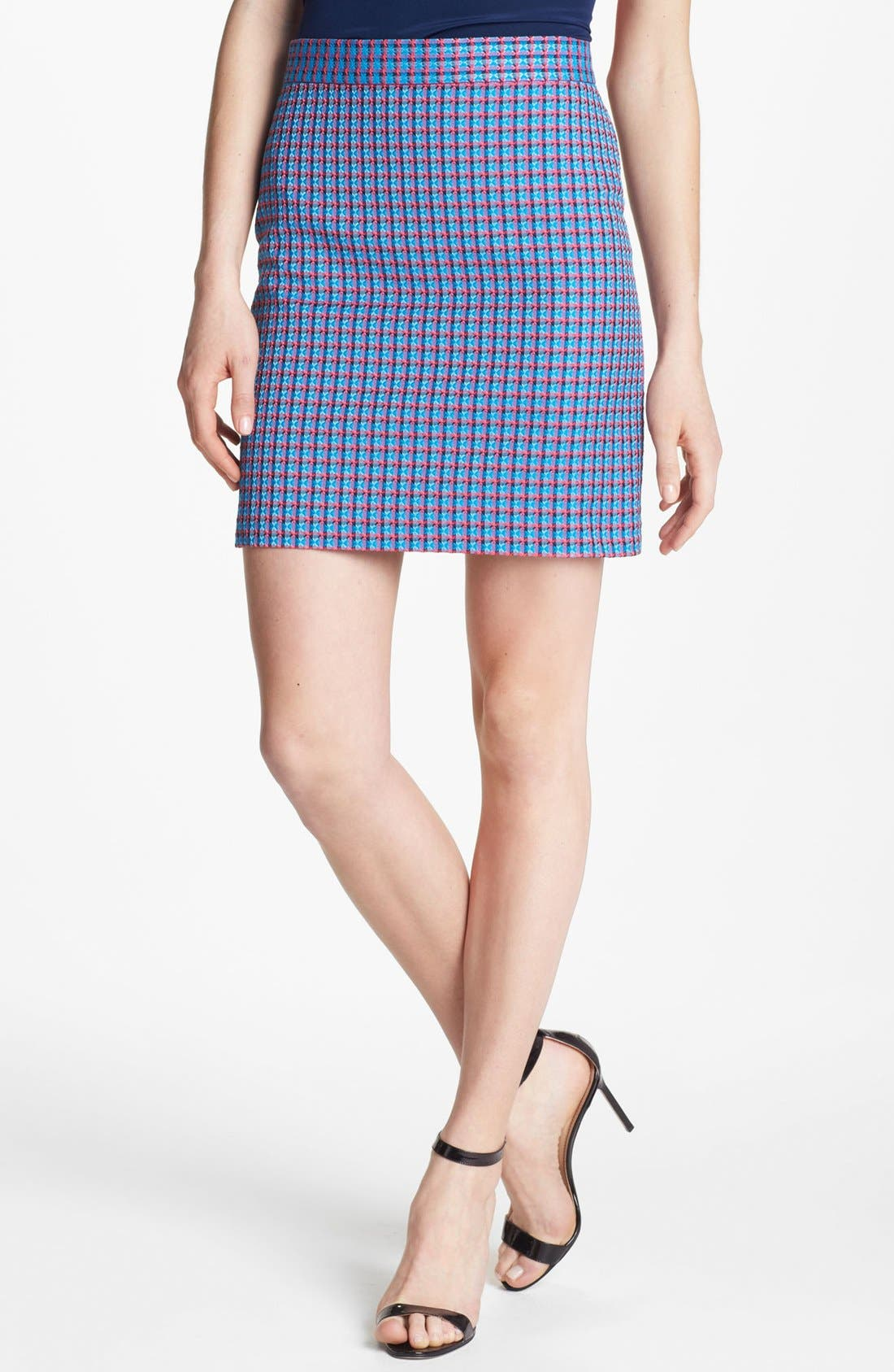 Alternate Image 1 Selected - MARC BY MARC JACOBS 'Clover' Check Miniskirt