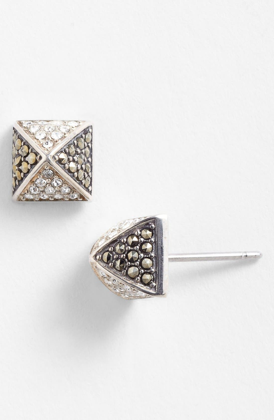 Alternate Image 1 Selected - Judith Jack Pyramid Stud Earrings