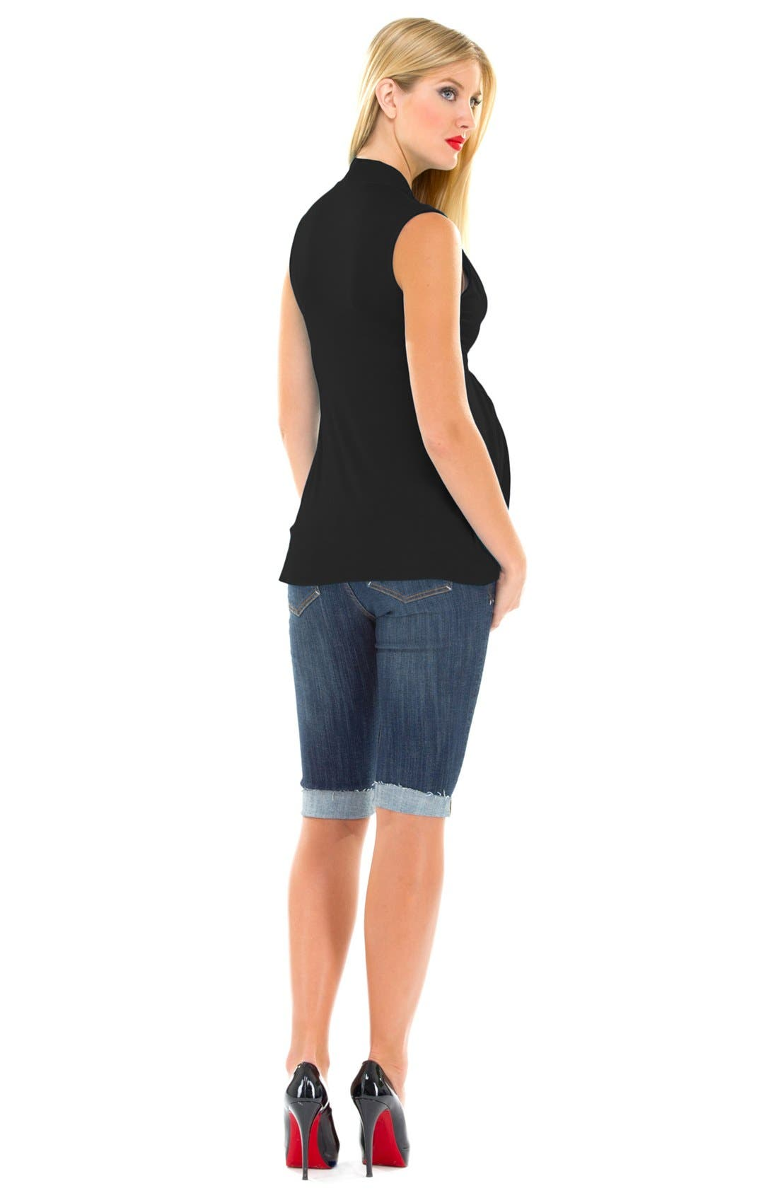 Alternate Image 3  - Olian Tie Front Maternity Tunic