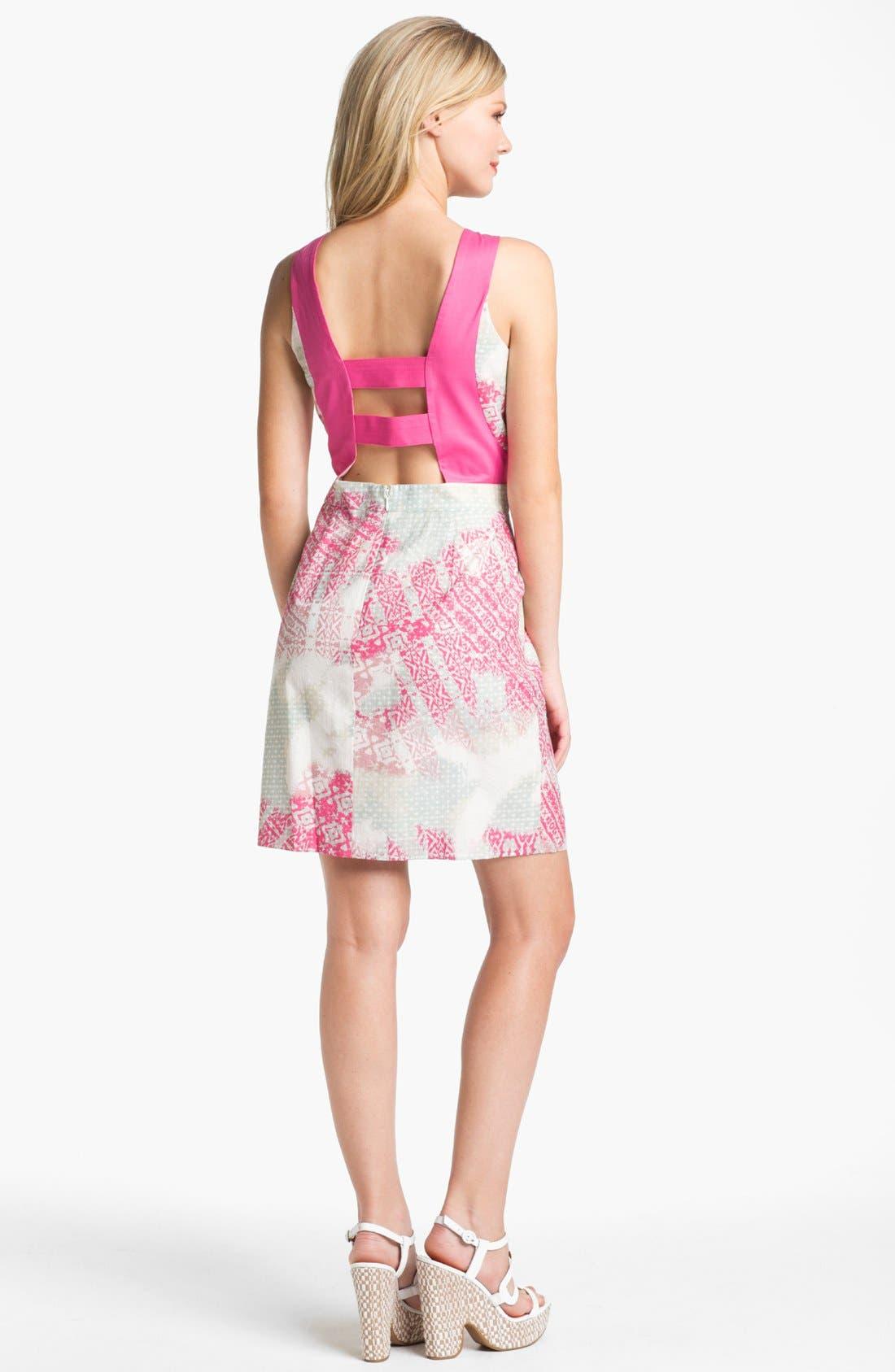 Alternate Image 2  - Jessica Simpson Print Cotton Dress