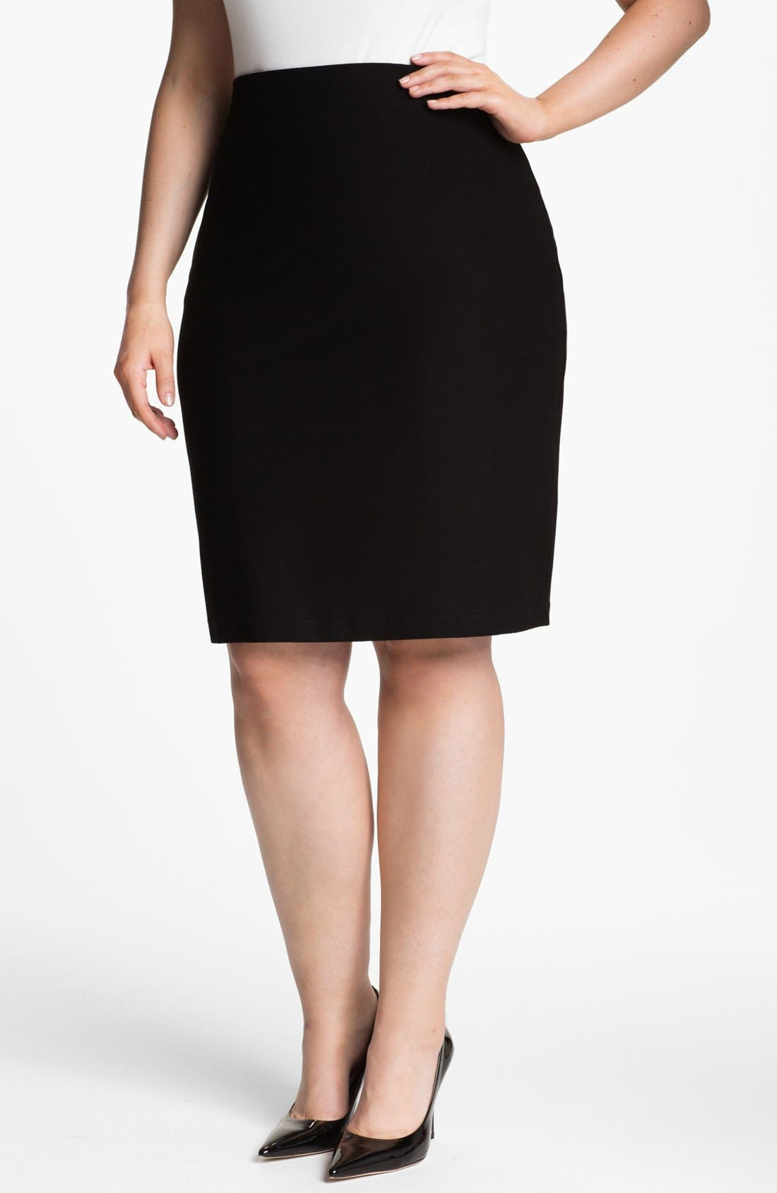 Alternate Image 1 Selected - Eileen Fisher Pencil Skirt (Plus Size)