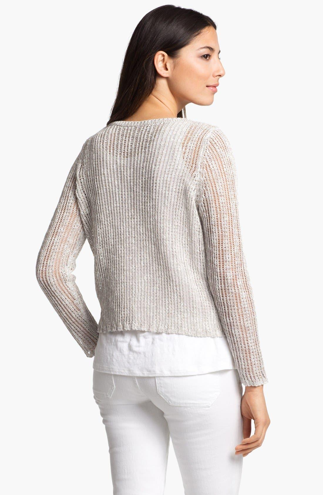 Alternate Image 2  - Eileen Fisher Ballet Neck Boxy Sweater