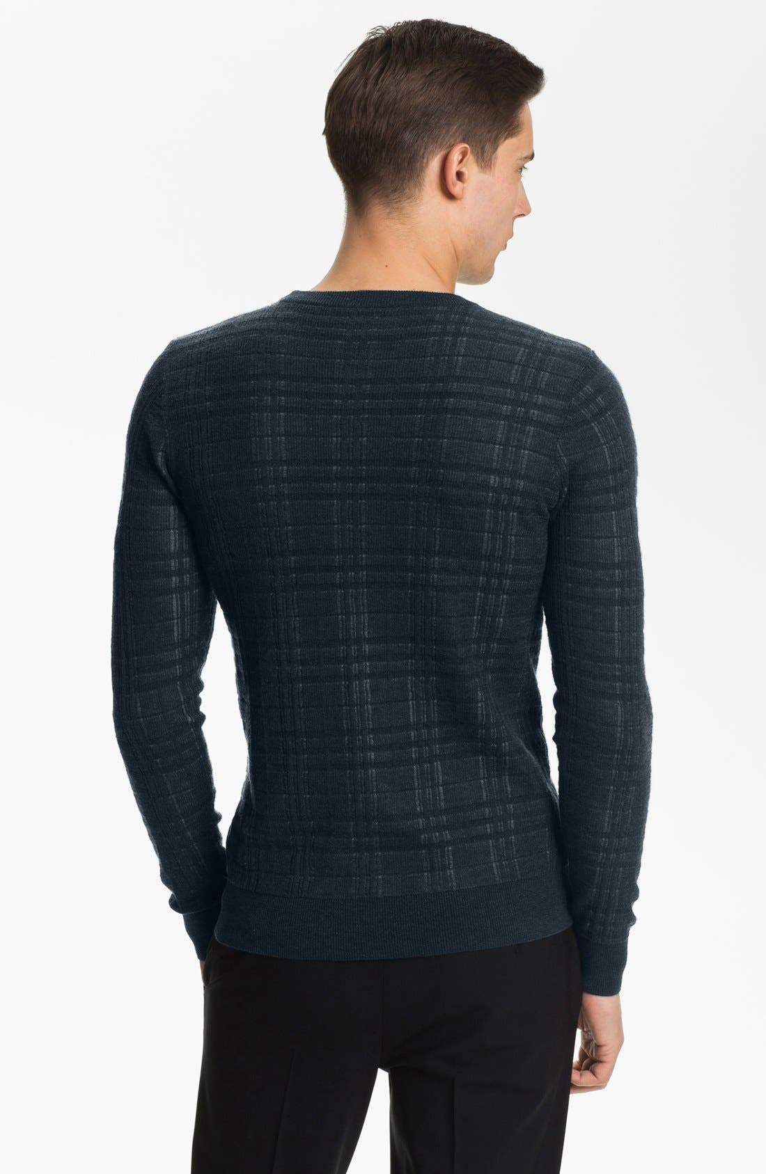 Alternate Image 2  - Armani Collezioni Crewneck Knit Sweater