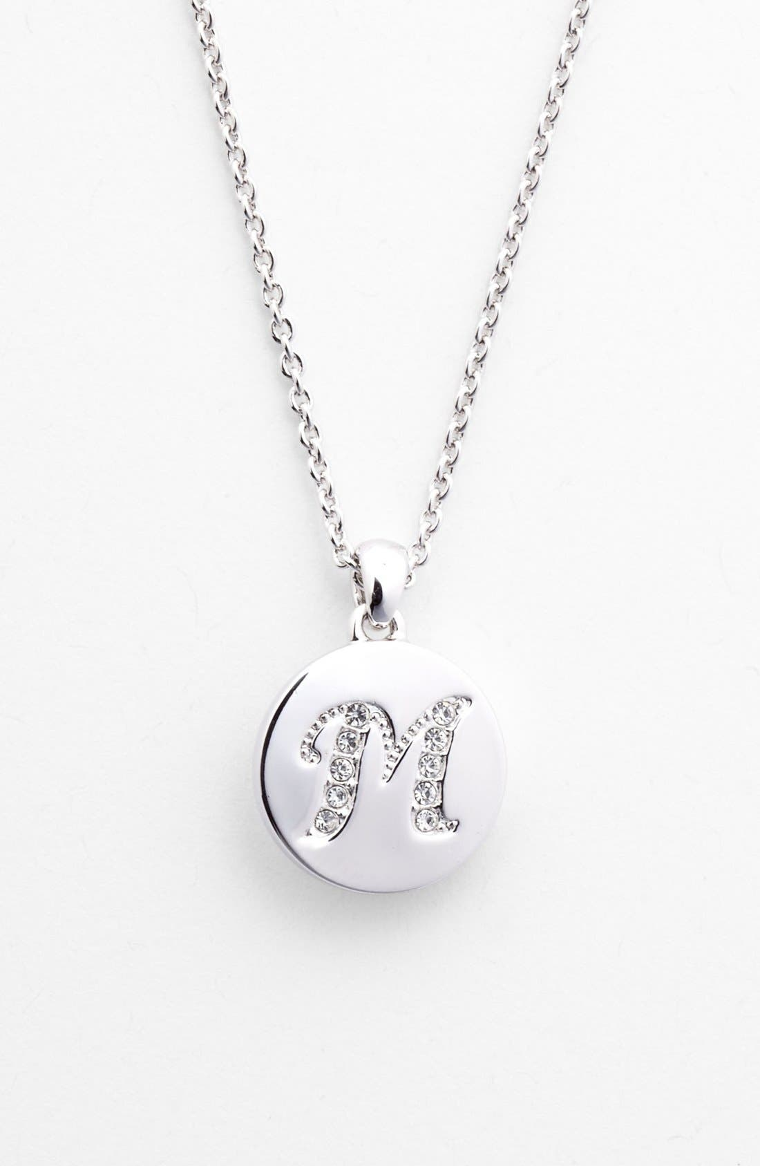 Main Image - Nadri Boxed Initial Pendant Necklace (Nordstrom Exclusive)