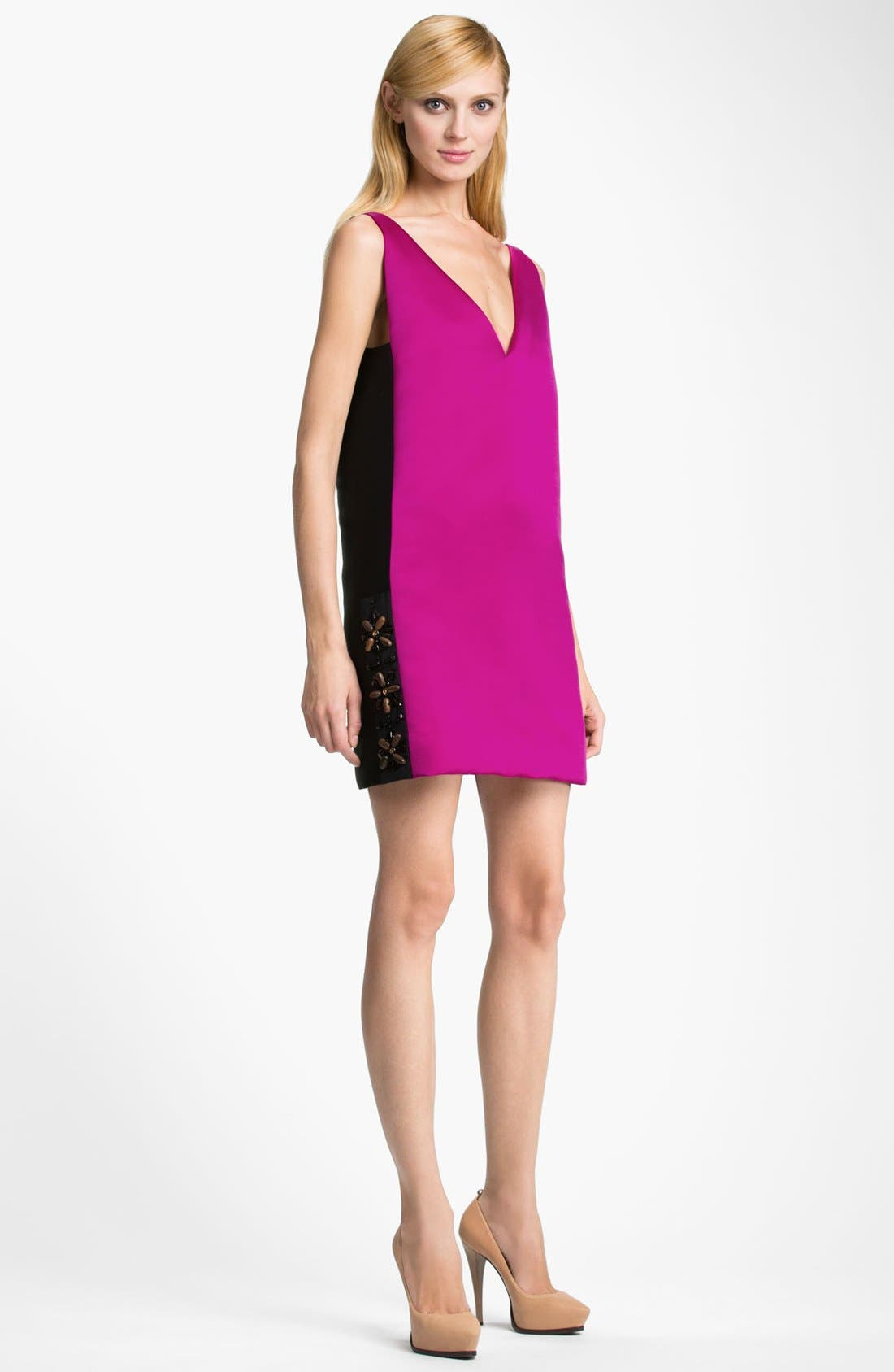 Alternate Image 1 Selected - Lanvin Bicolor Silk Dress