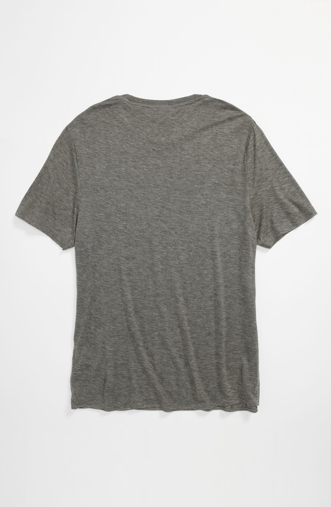 Alternate Image 2  - Topman 'Lux Collection' Marled Wool Blend T-Shirt
