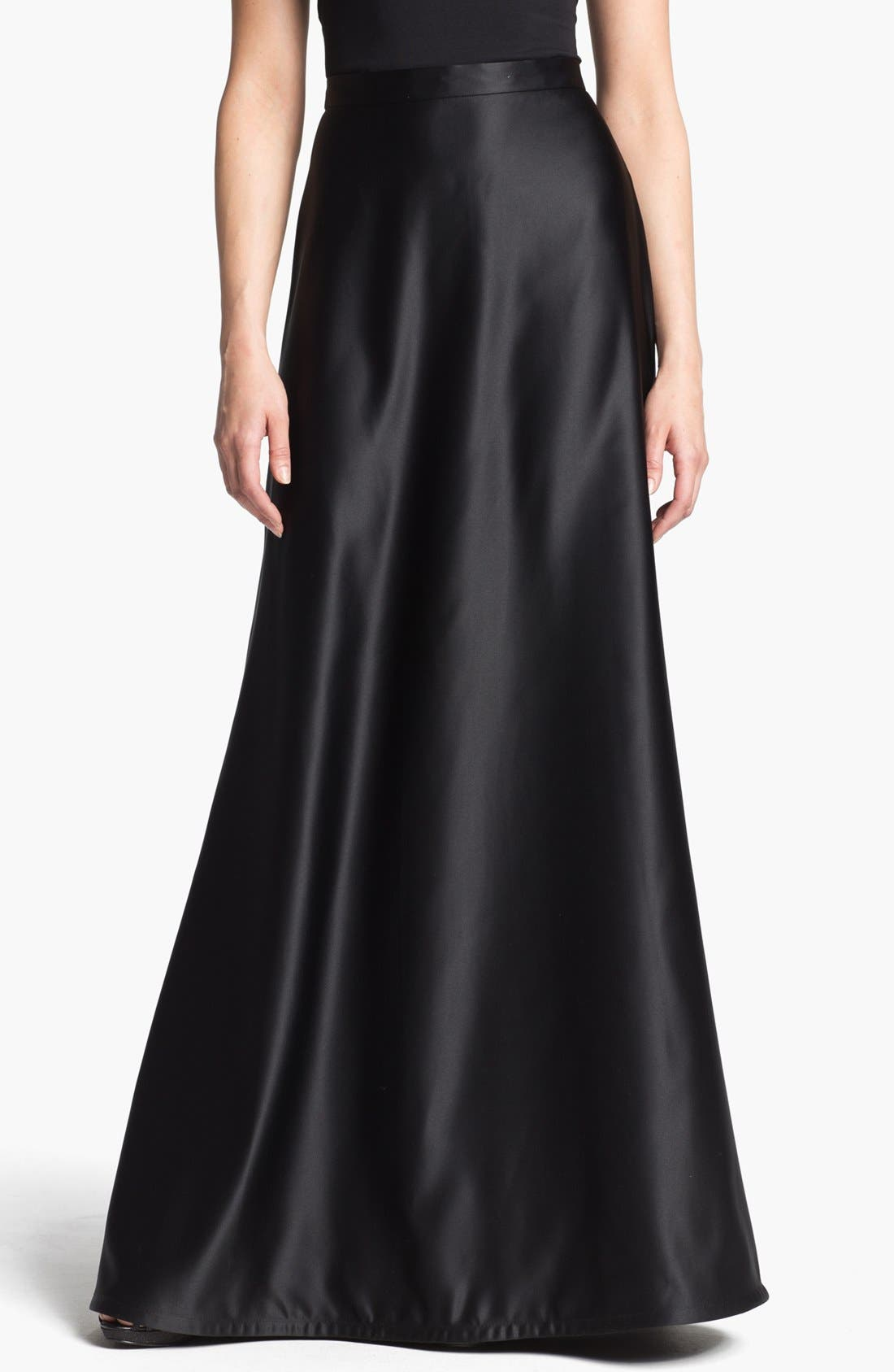 Alternate Image 1 Selected - Tadashi Shoji Satin A-Line Skirt