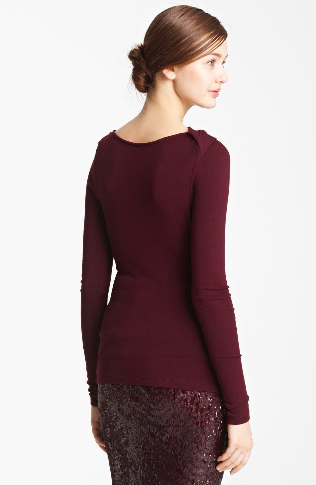 Alternate Image 2  - Donna Karan Collection Slash Jersey Top
