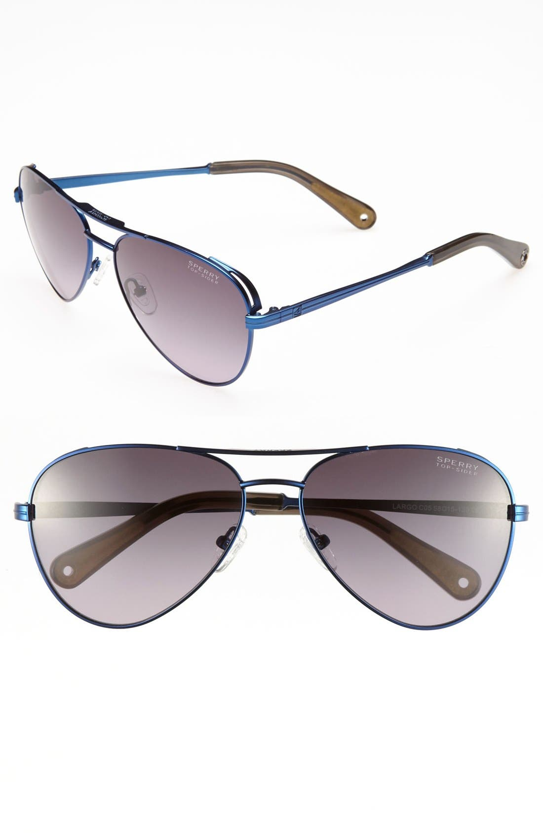 Main Image - Sperry Top-Sider® 'Largo' 58mm Aviator Sunglasses (Online Only)