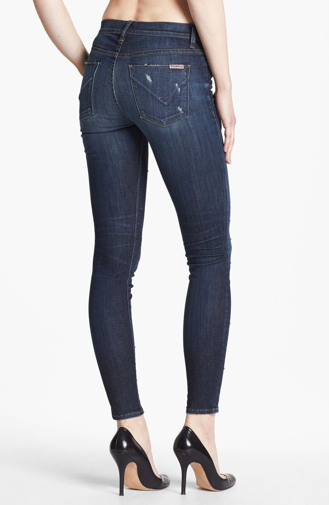 Alternate Image 4  - Hudson Jeans 'Nico' Mid Rise Skinny Jeans (Hoxton)