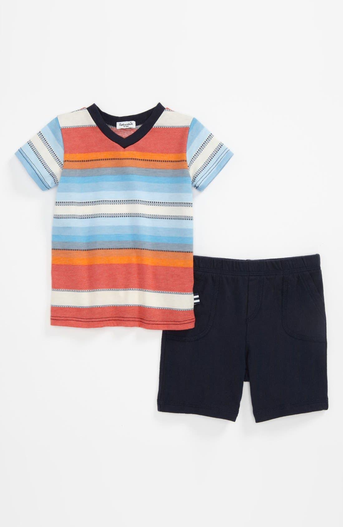 Alternate Image 1 Selected - Splendid V-Neck T-Shirt & Shorts (Baby)