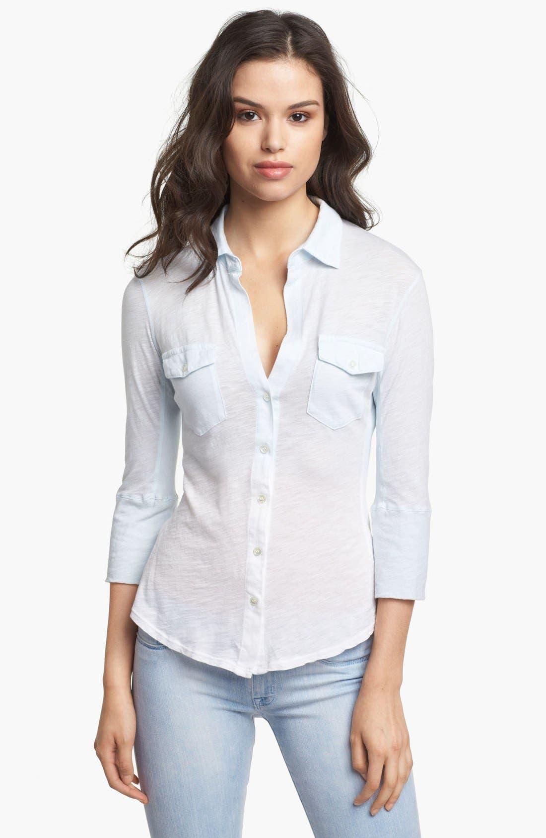 Alternate Image 1 Selected - James Perse Pocket Shirt