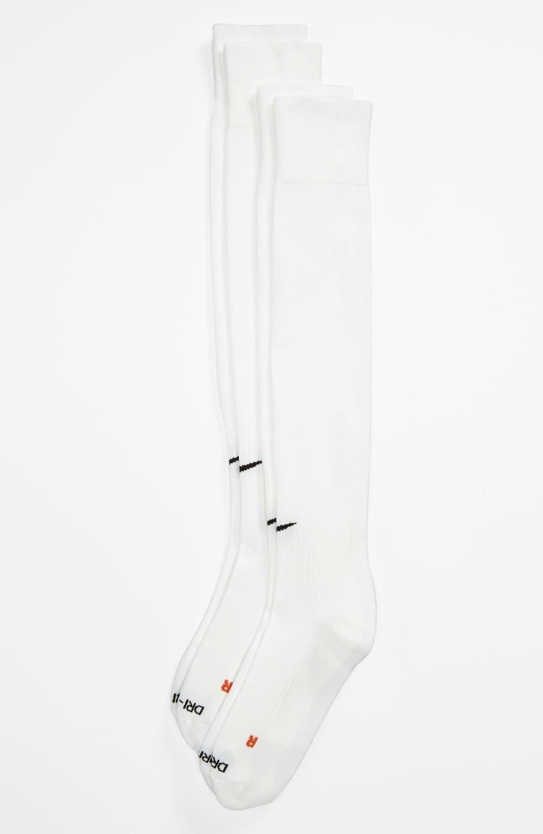 Alternate Image 1 Selected - Nike 'Classic' Dri-FIT Soccer Socks (2-Pack) (Men)
