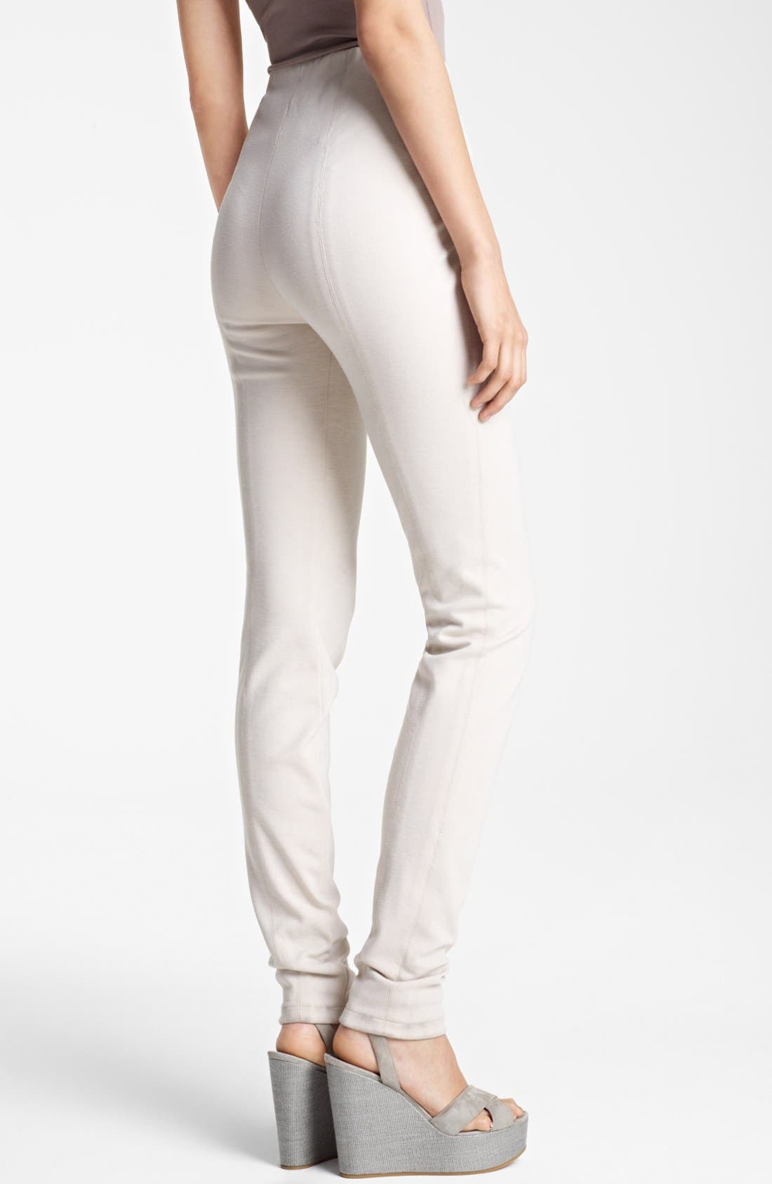 Alternate Image 2  - Donna Karan Collection Double Stretch Knit Leggings