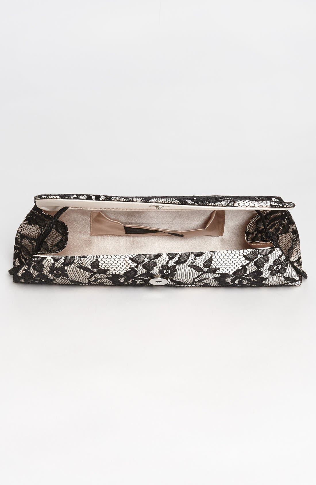 Alternate Image 3  - Jessica McClintock Lace Envelope Clutch