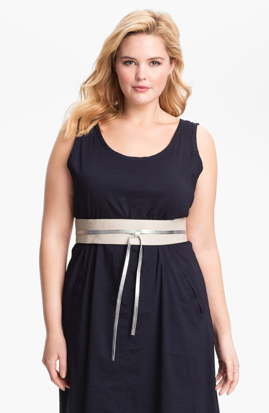 Main Image - Eileen Fisher 'Obi' Leather Belt (Plus)