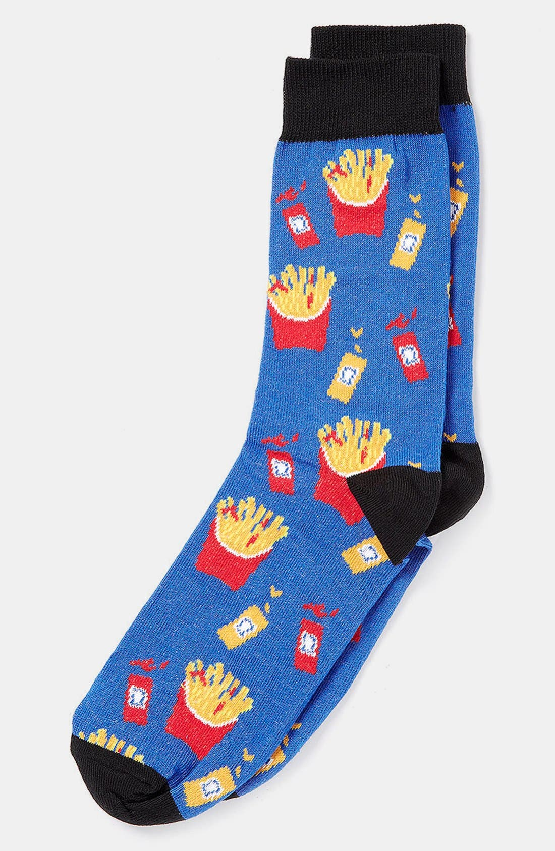 Alternate Image 1 Selected - Topman 'Fries with Red Sauce' Socks