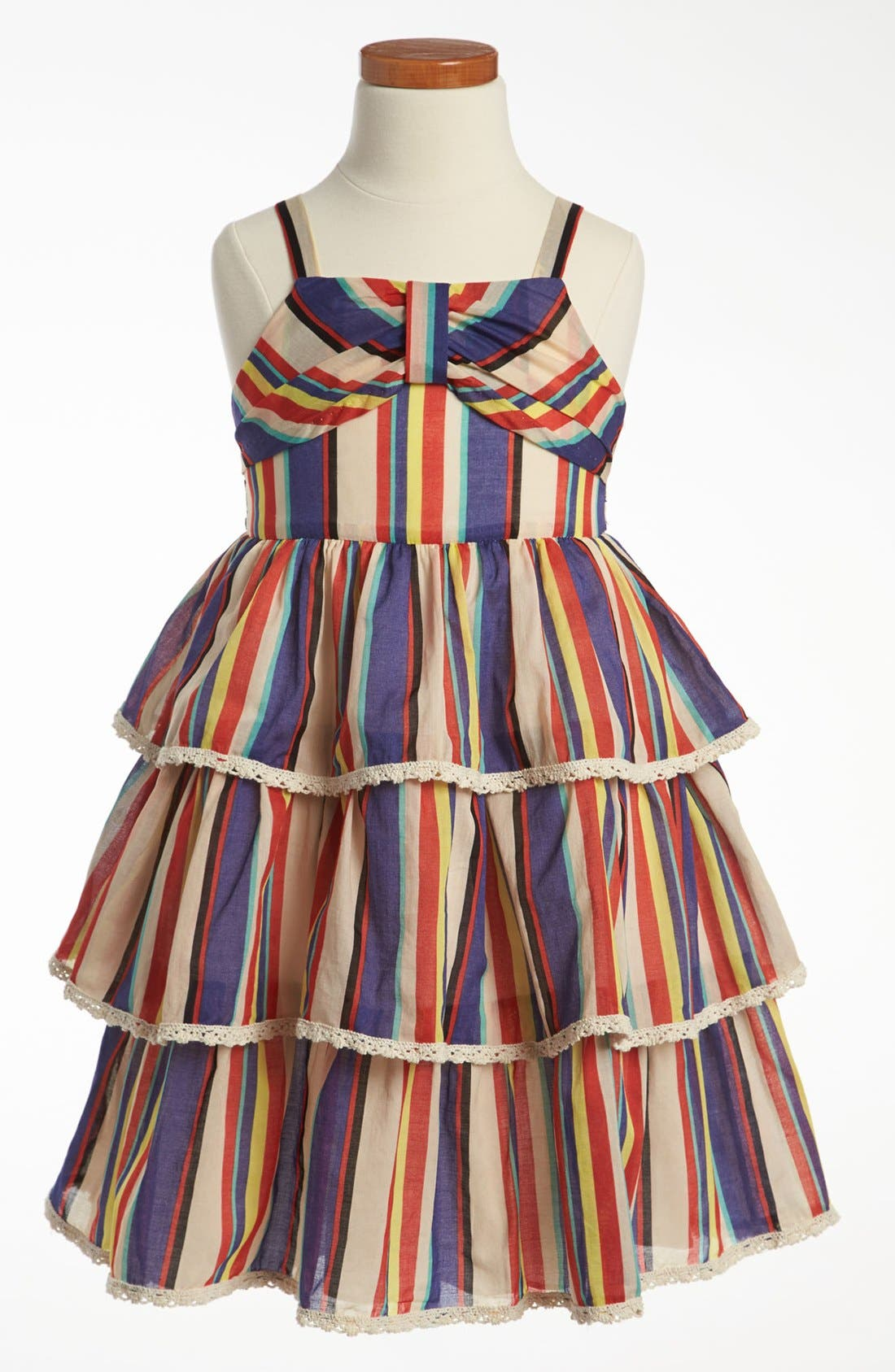 Alternate Image 1 Selected - Pippa & Julie Stripe Dress (Little Girls & Big Girls)