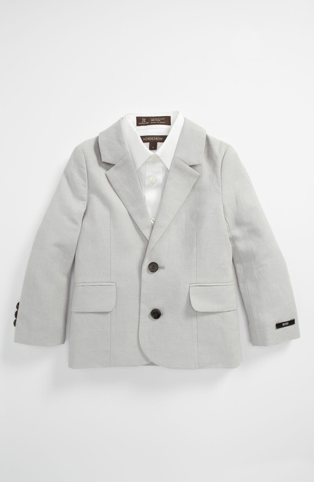 Alternate Image 1 Selected - BOSS Kidswear Linen Blend Blazer (Toddler)