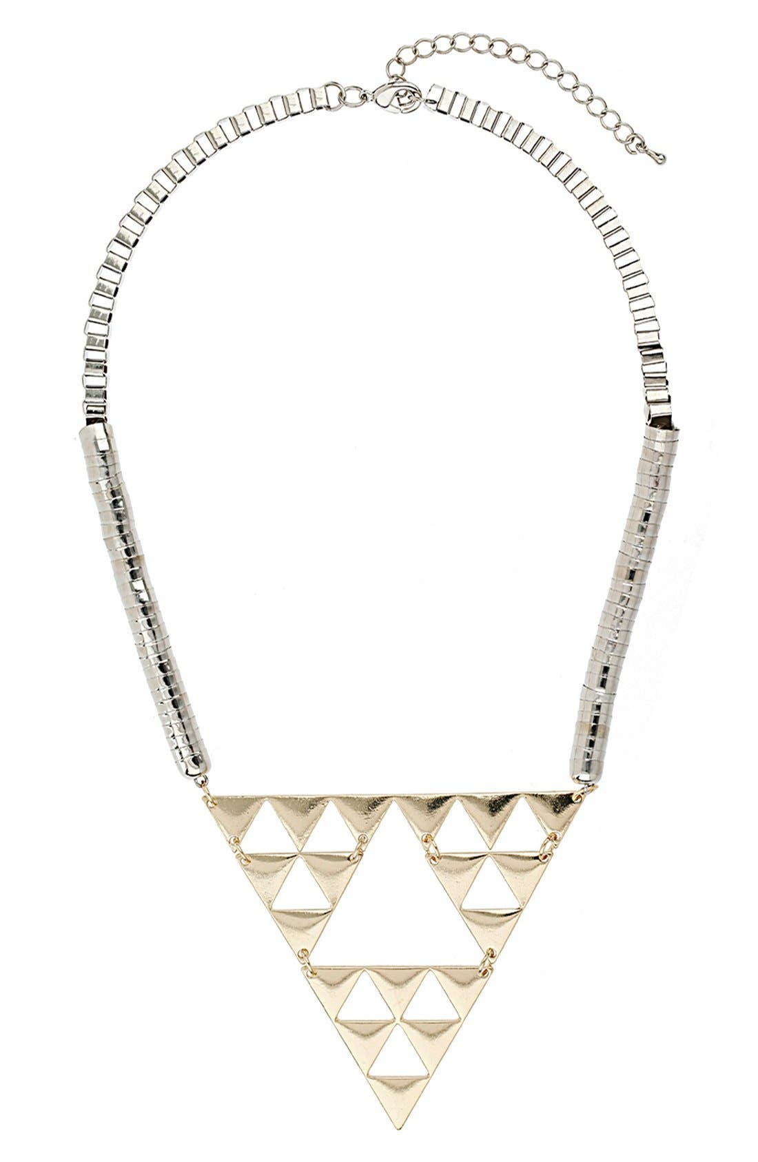 Main Image - Topshop Triangle Cutout Necklace