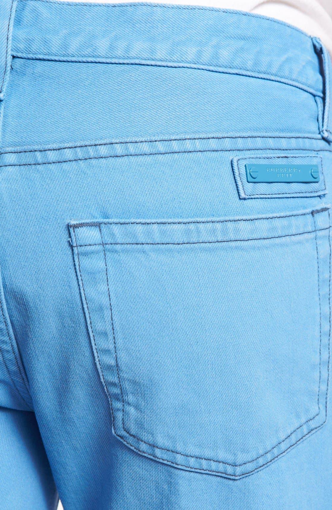 Alternate Image 4  - Burberry Brit 'Steadman' Straight Leg Jeans