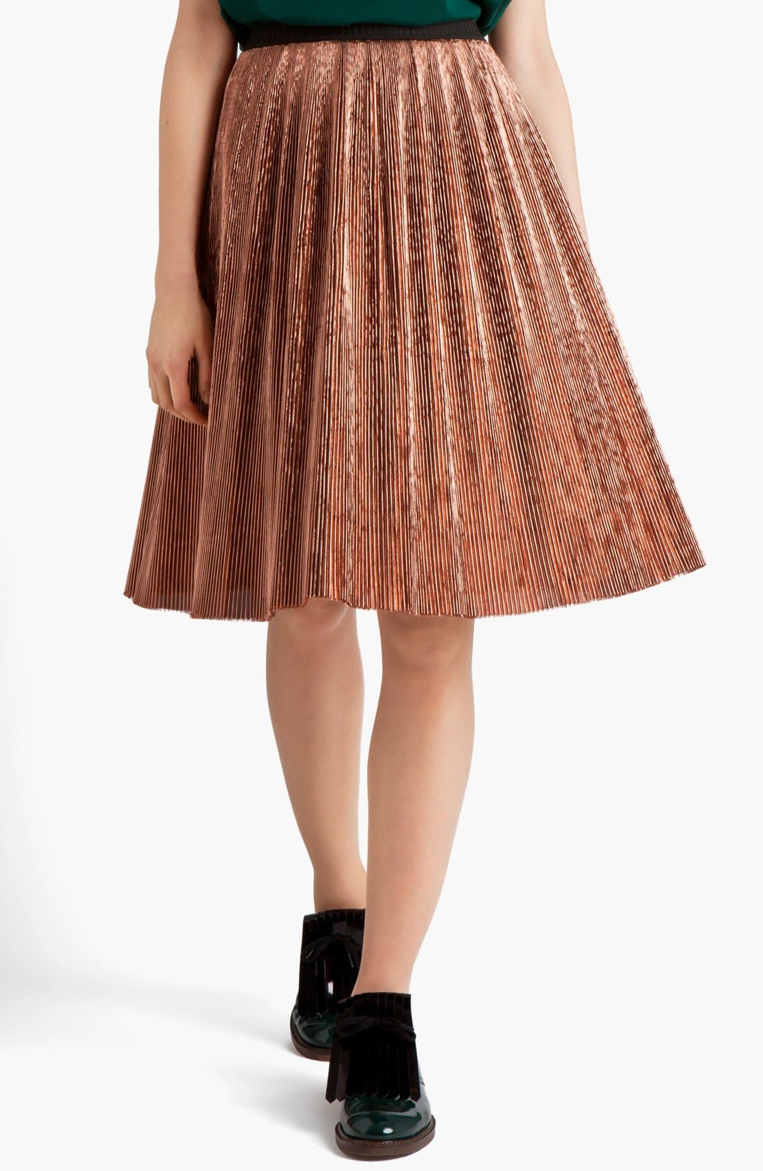 Alternate Image 1 Selected - Marni Knife Pleated Skirt