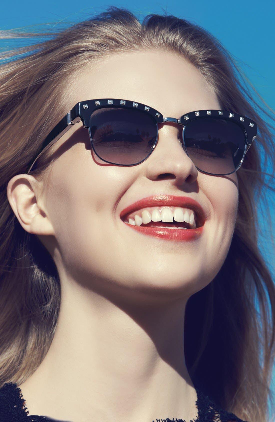 Alternate Image 2  - Valentino 'Rockstud' Sunglasses (Online Only)