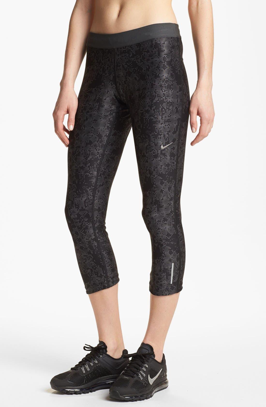 Alternate Image 1 Selected - Nike 'Relay' Print Capri Pants