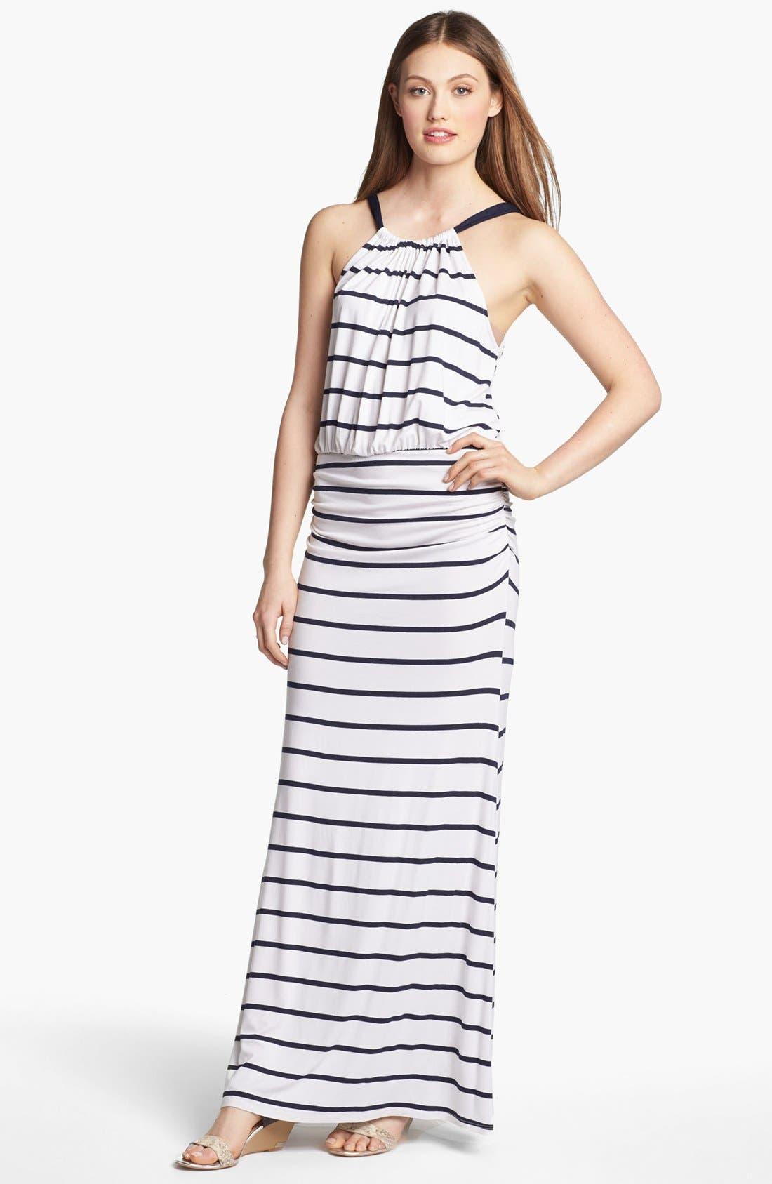 Main Image - Everleigh Bow Back Halter Maxi Dress