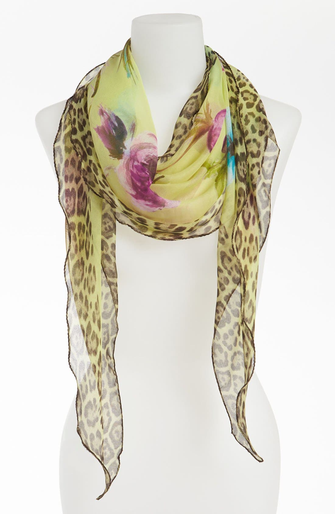 Main Image - Nordstrom Floral Animal Print Scarf